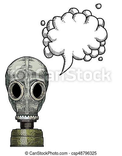 gas mask-100 Cartoon image - csp48796325