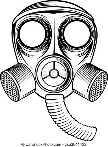 black and white gas mask rh canstockphoto com skull gas mask clip art skull with gas mask clip art