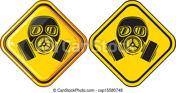 gas mask hazardous sign - csp15580748