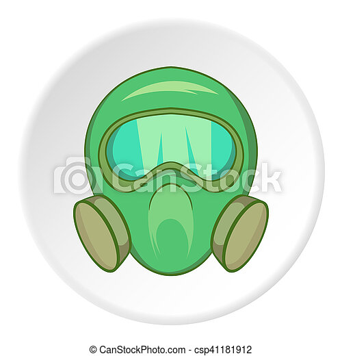 gas mask icon cartoon style gas mask icon in cartoon style rh canstockphoto com black gas mask cartoon gas mask cartoon pics