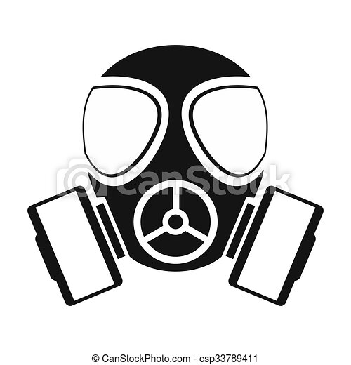 gas mask simple icon isolated on white background rh canstockphoto com gas mask clipart gas mask war clipart