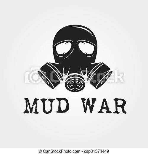 Gas mask vector design template.