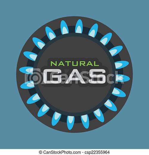 gas natural design - csp22355964