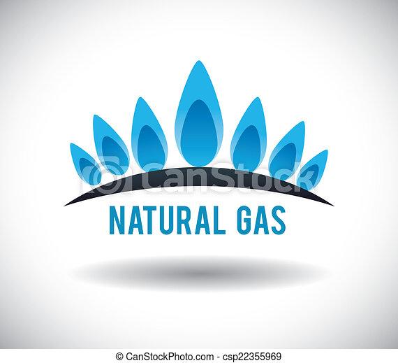 gas natural design - csp22355969