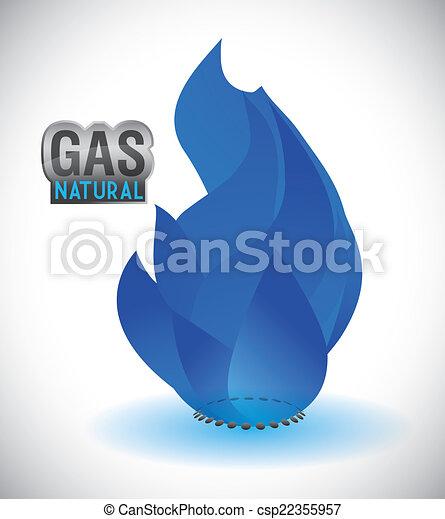 gas natural design - csp22355957