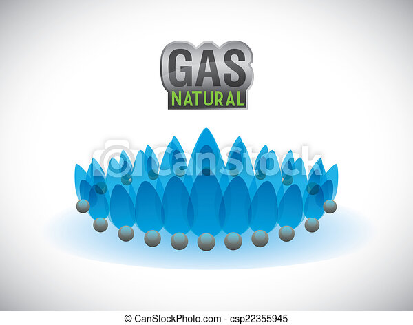 gas natural design - csp22355945