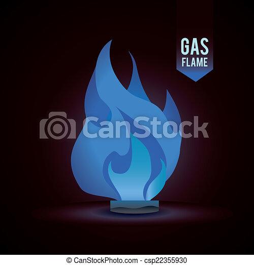 gas natural design - csp22355930