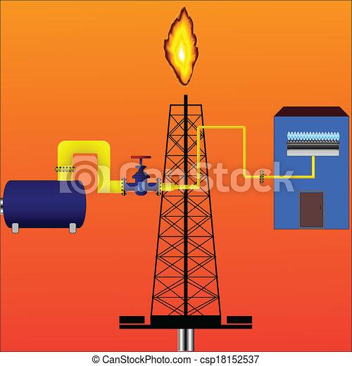 Gr ficos vectoriales de gas natural entrega vector for Imagenes de gas natural