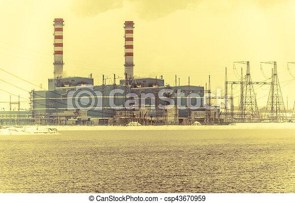 Gas power plant - csp43670959