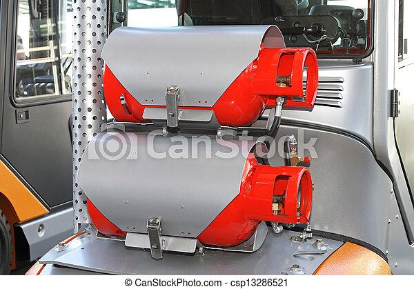 Gas powered forklift - csp13286521