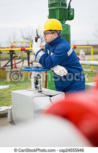 Gas production operator stock photo - Search Photographs and Clipart ...