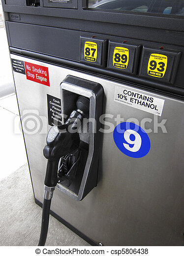 Gas pump and nozzle - csp5806438