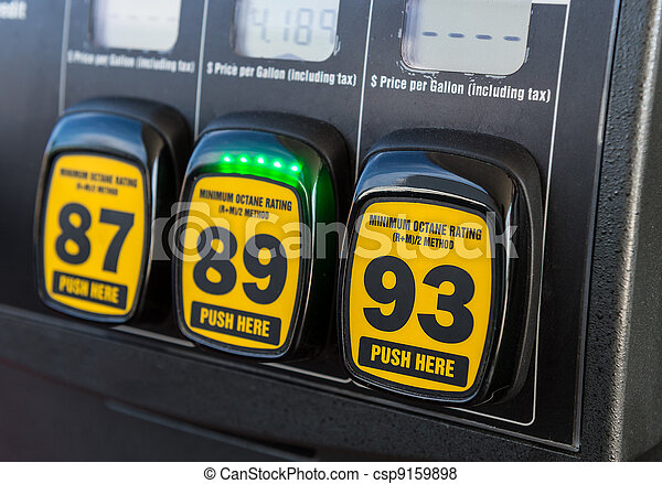 Gas pump octane selector - csp9159898
