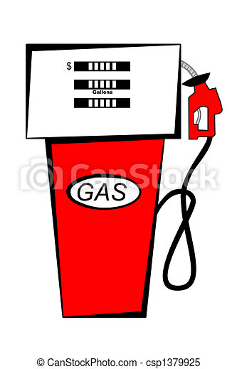 red gas pump rh canstockphoto com gas station clip art black and white gas pump clip art black white