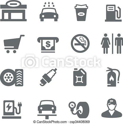 gas, serie, stazione, -, utilità - csp34408069