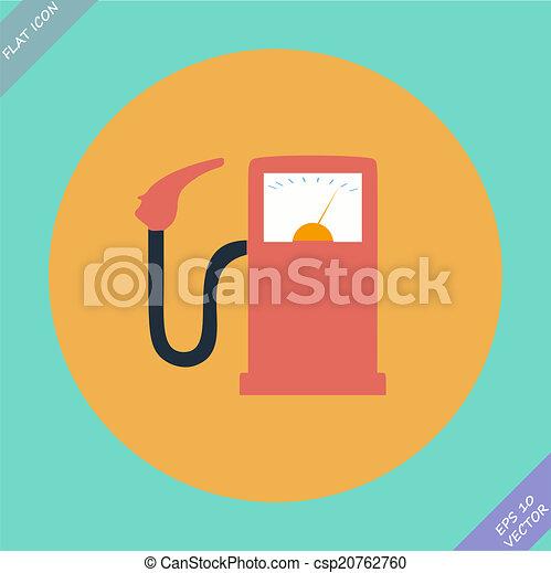 Gas station fuel pump - vector illustration. - csp20762760