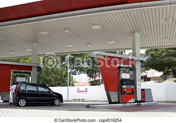 Gas Station - csp4516254