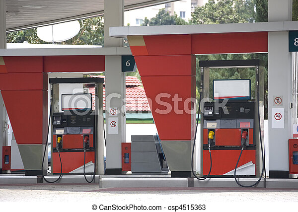 Gas Station - csp4515363