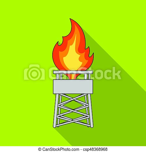 Gas tower. Oil single icon in flat style vector symbol stock illustration web. - csp48368968