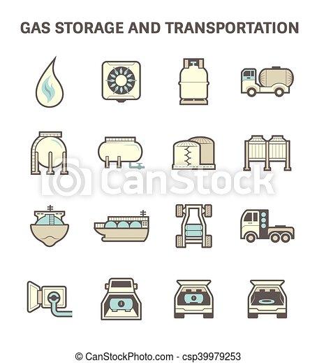 Gas transportation icon - csp39979253