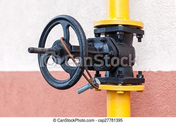 Gas valve on the tube - csp27781395