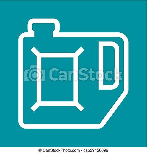 gasolina, lata - csp29456099