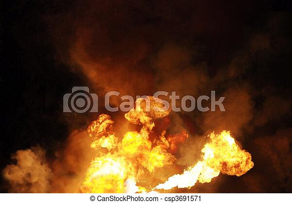 gasoline fire - csp3691571