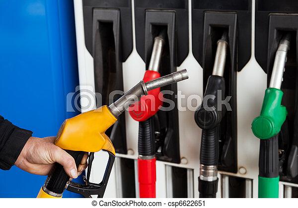 Gasoline station fuel pumps - csp6622651