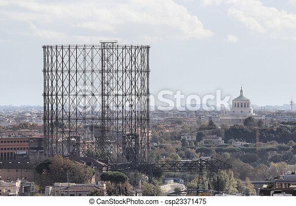 gasometro in Rome - csp23371475