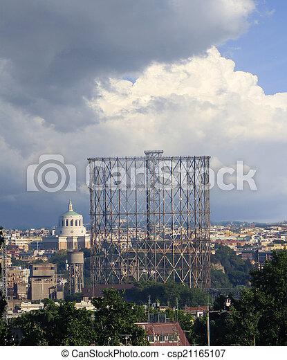 gasometro in Rome - csp21165107