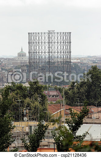 Gasometro in Rome - csp21128436