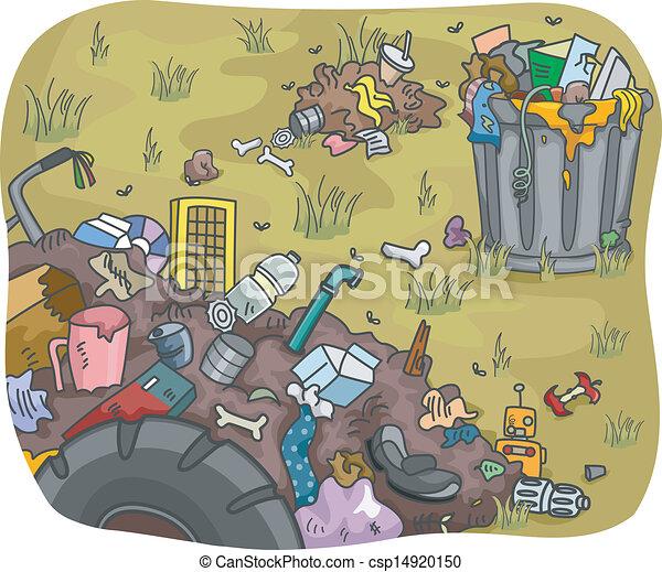 gaspillage, décharge - csp14920150