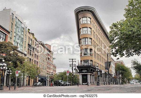 gastown, edifícios, histórico, vancouver, bc - csp7632275