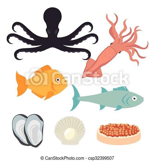 gastronomie, nourriture, mer - csp32399507