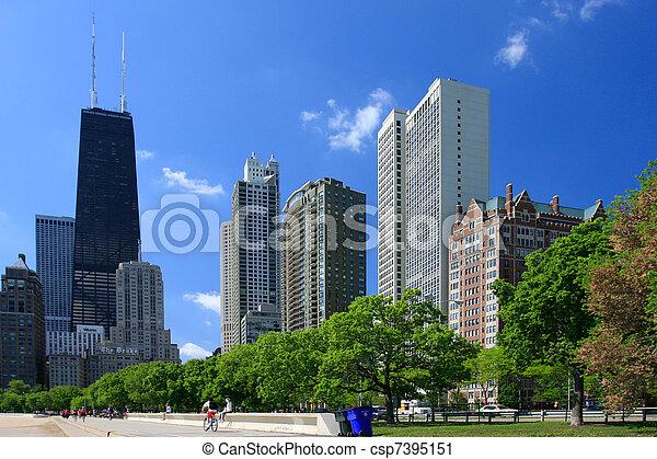 gata, chicago, synhåll - csp7395151