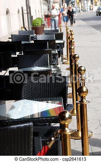 gata, stockholm, restaurang - csp2641613