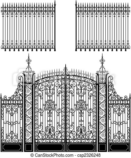 Gate and Fence - csp2326248