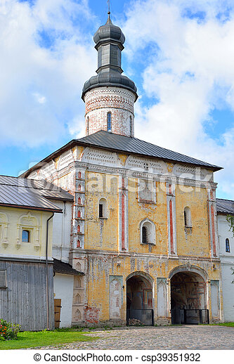 Gate Church St. John of the Lestvichnika. - csp39351932