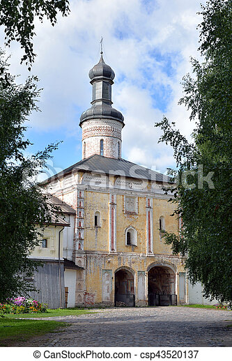 Gate Church St. John of the Lestvichnika. - csp43520137