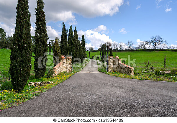 gate in Tuscany - csp13544409