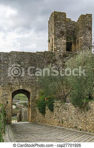 gate in wall, Monteriggioni, Italy - csp27701926