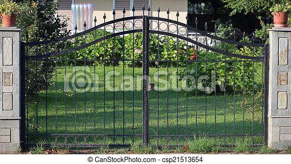 modern metal gate. Gate - Csp21513654 Modern Metal