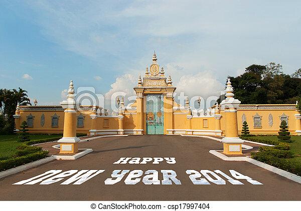 Gate to lunar new year 2014 - csp17997404