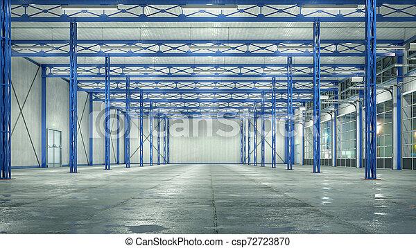 gates., イラスト, ガラス, 内部, 格納庫, 3d - csp72723870