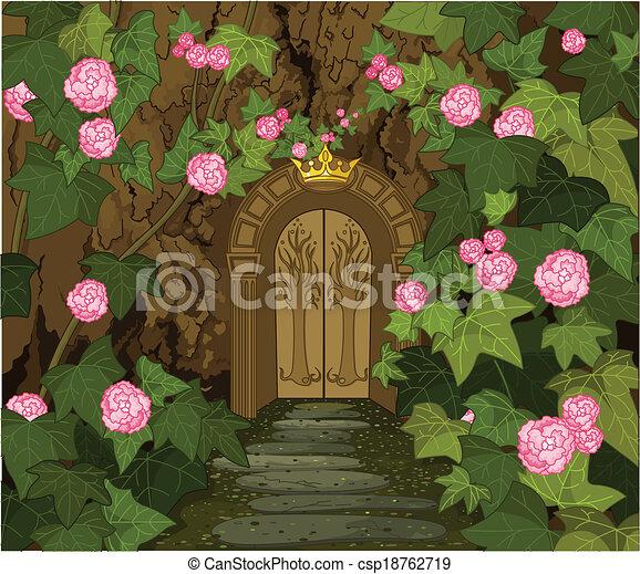 Gates of Magic Elves Castle - csp18762719