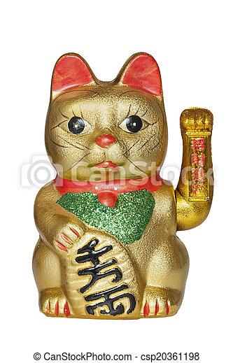 Gato afortunado chino - csp20361198