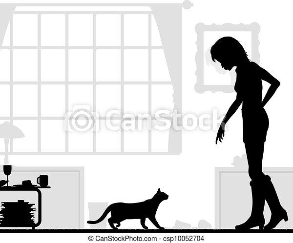 Amante de los gatos - csp10052704