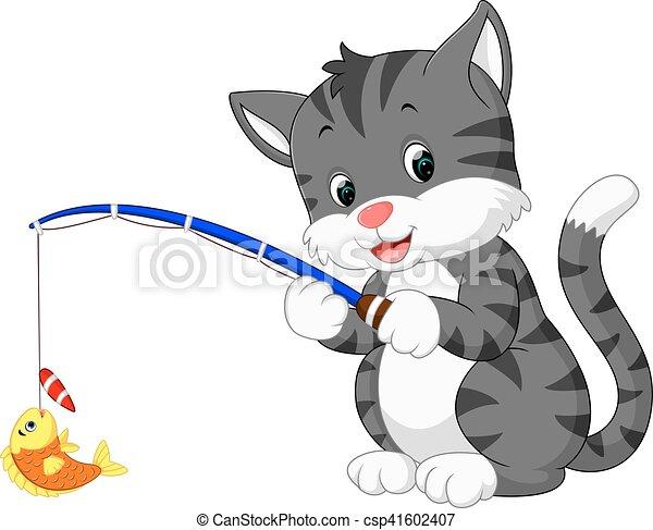 Lindo dibujo de gato - csp41602407