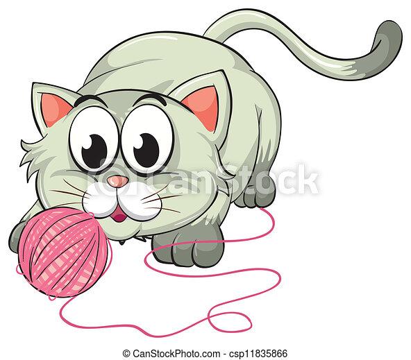 Un gato - csp11835866