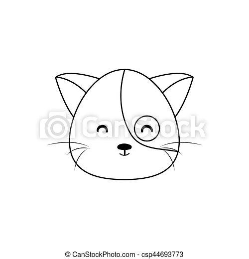 gato desenho rosto abstratos desenho gato fundo linha rosto